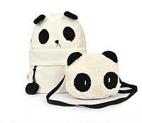 Рюкзак панда +сумочка панда