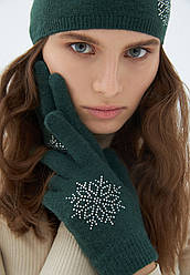 Отзывы (2 шт) о Faberlic Перчатки с узором Снежинка цвет изумрудный арт 600640