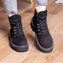 Ботинки женские Fashion Tie 2449 36 размер 22,5 см Черный, фото 2