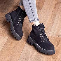 Ботинки женские Fashion Tie 2449 36 размер 22,5 см Черный, фото 3