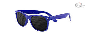 Очки тренажёры для глаз, пластик, синие, очки тренажёры, очки перфорационные, очки в дырочку, детские, Mystery