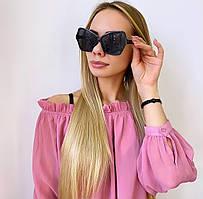 Женские  черные солнцезащитные очки бабочки