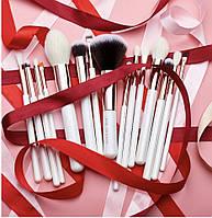 Набір кистей для макіяжу Jessup White 15шт
