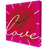 """Часы настенные на холсте """"LOVE"""""""