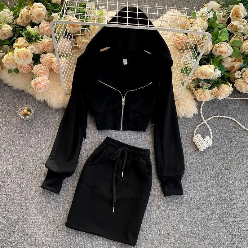 Женский костюм, турецкая двунить, р-р 42-44; 44-46 (чёрный)