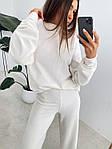 Женский костюм, турецкий микровельвет, р-р 42-44; 44-46 (белый), фото 5