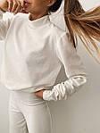 Женский костюм, турецкий микровельвет, р-р 42-44; 44-46 (белый), фото 8