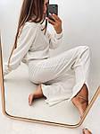 Женский костюм, турецкий микровельвет, р-р 42-44; 44-46 (белый), фото 7