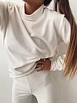 Женский костюм, турецкий микровельвет, р-р 42-44; 44-46 (белый), фото 9