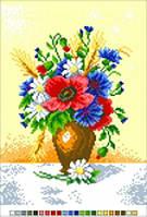 Канва с рисунком Букет в вазе