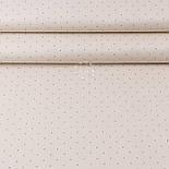 "Лоскут ткани ""Коричевые редкие точки"" на бежевом (№3409), размер 18*240 см, фото 2"