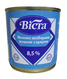 "Молоко згущене ДСТУ 8,5% ""ВИСТА"" 370 г"