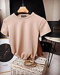 Жіноча футболка, коттон, р-р С-М (бежевий), фото 2