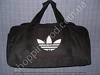 Дорожная сумка Adidas 013614 средняя (47х24х25, см) черная спортивная багажная текстильная