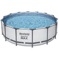 Bestway Каркасный бассейн Bestway 5612X (427х122 см) с картриджным фильтром, тентом и лестницей