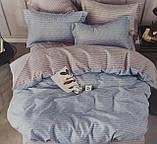 Байковий комплект постільної білизни двосторонній Байка ( фланель) Смужка Бежевого кольору, фото 6