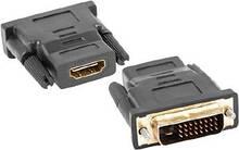 Переходник DVI-D (папа) - HDMI (мама) TRY PLUG черный новый