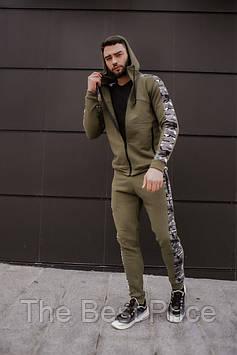 Спортивный мужской костюм Dazzle Intruder хаки камуфляж (Кофта толстовка штаны)