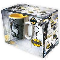 Подарунковий набір DC COMICS Batman чашка 460мл, брелок та піни
