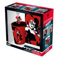 Подарунковий набір DC COMICS Harley Quinn Чашка 250мл, брелок та блокнот
