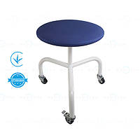 Стілець медичний для лікаря (стілець медичний на колесах) СВ-П пересувний гвинтовий без спинки Заповіт