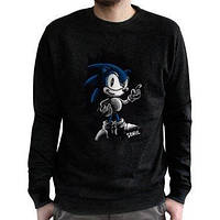 Світшот SONIC Sonic (Сонік) для чоловіків чорна