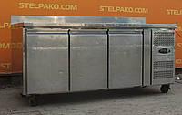 Холодильный стол из нержавеющей стали «Tefcold CK7310» 1.8 м., (Германия), полезный объём 320 л., Б/у