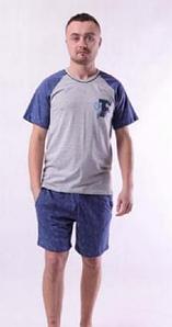 Мужская пижама шорты и футболка хлопок 44-62 р