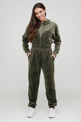 Велюровий костюм штани і кроп-топ TM Orli, фото 2