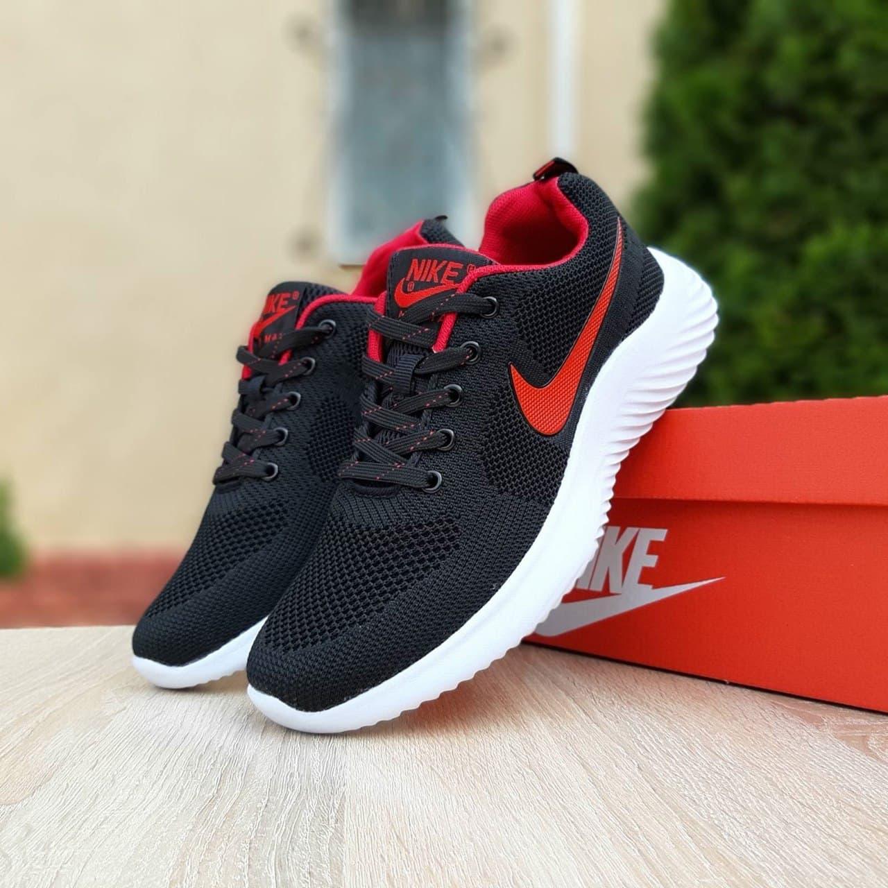 Кросівки чоловічі Найк Air max чорні з червоним