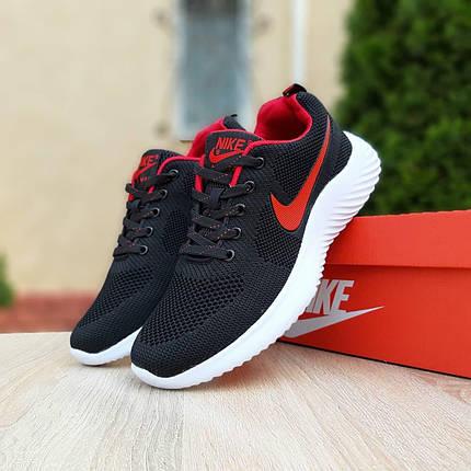 Кросівки чоловічі Найк Air max чорні з червоним, фото 2