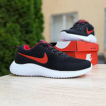 Кросівки чоловічі Найк Air max чорні з червоним, фото 3