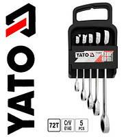 Набор накидных ключей с трещоткой YATO 5 st  8-19мм YT-5038