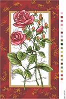 Канва с рисунком Розы в рамке