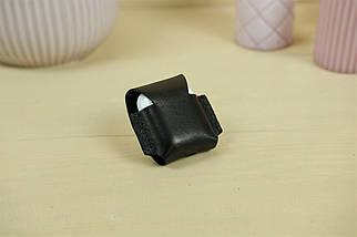 Чохол для AirPods 1, AirPods 2, шкіра Італійський Краст, колір Чорний, фото 2