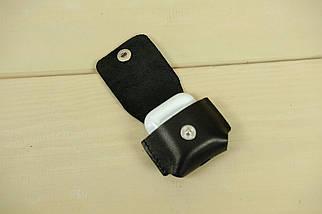 Чохол для AirPods 1, AirPods 2, шкіра Італійський Краст, колір Чорний, фото 3