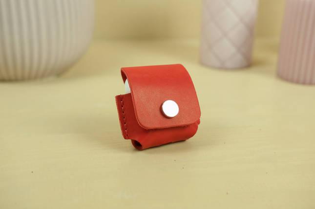 Чехол для AirPods 1, AirPods 2, кожа Итальянский Краст, цвет Красный, фото 2