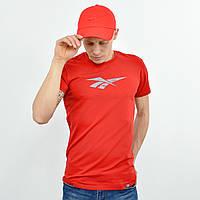 Мужская футболка Reebok (реплика)  красный