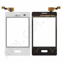 Сенсор (Touch screen) LG E400 Optimus L3 белый