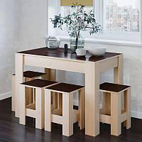 Стол обеденный СТО-1 + 4 табурета