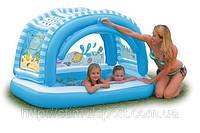 Надувной детский бассейн Intex 57406 с тентом (163х112х102см.)