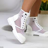 Крутые модельные белые летние женские ботинки мартинсы весна-лето 2021