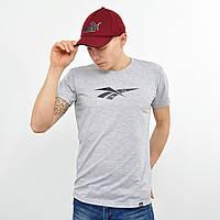 Чоловіча футболка Reebok (репліка) світло сірий меланж, фото 1