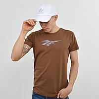 Чоловіча футболка Reebok (репліка) коричневий