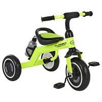 Дитячий триколісний велосипед з підсвічуванням Turbo Trike M 3648-M-2 салатовий