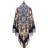 Пісня казкового лісу 1880-65, павлопосадский вовняну хустку з шовковою бахромою, фото 3