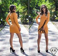 Красивое облегающее трикотажное платье Париж. Арт-3268/23