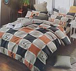 Комплект постельного белья двухсторонний  Цветы на красном Ткань Полисатин, фото 4