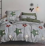 Комплект постельного белья двухсторонний  Цветы на красном Ткань Полисатин, фото 5