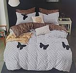 Комплект постельного белья двухсторонний  Цветы на красном Ткань Полисатин, фото 9
